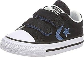 Converse Star Player 2V OX, Zapatos Unisex Bebé, Rojo (Gym Red/Aegean Storm/White 688), 18 EU