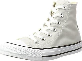Unisex Adults Ct a/S Lthr WHT Monoch Hi-Top Trainers, Nero Monochrome, 3 UK Converse