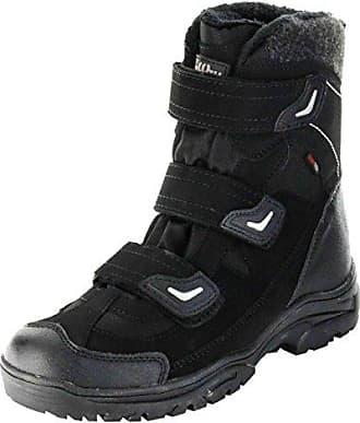 MEI&S Herren Martin stiefel Rutschfeste Leder Stiefel Freizeitschuhe warmen Schnee Stiefel, Schwarz Warm, 47 LSM-Stiefel