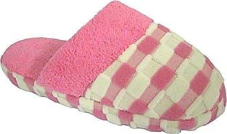 Coolers Marqui Damen Warme Winter Gepunktete Flausch Pantoletten Schlappen (40-41) Rosa