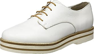 Dublin-Ang, Zapatos de Cordones Derby para Mujer, Blanco (Cloud,Silber 11), 39 EU Jenny