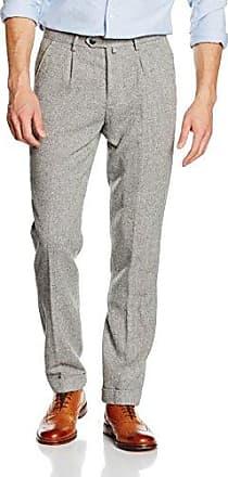 Mens Pantal?n Lino Slim Fit Trousers Cortefiel