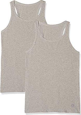 Cotonella C GD1360000 K2, Camiseta Deportiva de Tirantes para Mujer, Gris (Grigio Melange 00113), 38(Pack de 2)