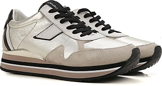Sneakers for Women On Sale in Outlet, Platinum, Leather, 2017, US 9 (EU 39) Crime London