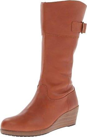 crocs A-leigh Leather Boot 14783-2D8-440, Damen Stiefel, Braun (Cinnamon/Walnut), US W7