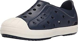 Crocs CrocsKids Bump It - Sabots Bump It - Enfants Fille/Garçon, Bleu (Navy/Volt Green), 27 M EU Tout Petit