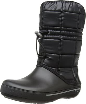 AllCast Luxe Duck Boot, Mujer Bota, Negro (Black/Charcoal), 39-40 EU Crocs