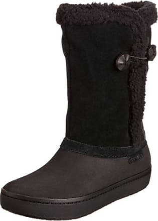 AllCast Luxe Duck Boot, Mujer Bota, Negro (Black/Charcoal), 39-40 EU Crocs