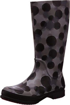 crocs Wellie Polka Dot Print Boot 15374-05J-460, Damen Stiefel, Grau (Smoke/Black), EU 38-39 (W8)