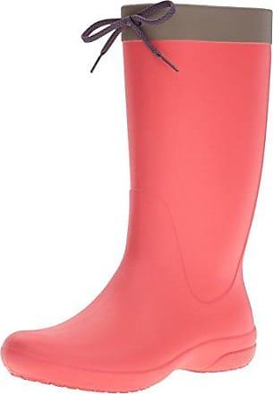 Crocs Fsailrainbootw, Bottes de Pluie Femme, Rouge (Flame), 36-37 EU