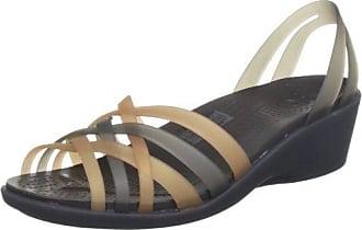 Huarache Flip-flop Women, Mujer Sandalia, Dorado (Bronze/Espresso), 36-37 EU Crocs