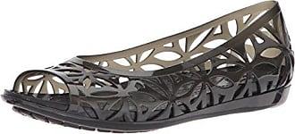 Isabella Jelly II Flat Women, Mujer Zapato Plano, Negro (Black/Black), 34-35 EU Crocs