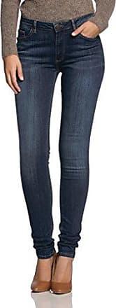 Cross Jeanswear Anya - Pantalones Vaqueros Mujer, Color Azul, Talla W34/L32 (Talla Fabricante: 34)