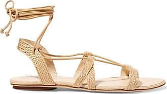 Sienna Woven Raffia And Leather Sandals - IT39.5 Cult Gaia