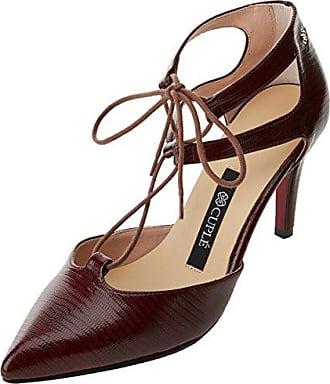 103060 Vani100, Zapatos de Tacón con Punta Cerrada para Mujer, Rojo (Fiocco), 37 EU Cuplé
