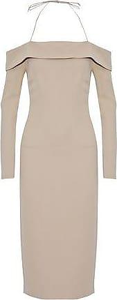 Cushnie Et Ochs Woman Asymmetric Silk-satin Top Neutral Size 0 Cushnie et Ochs