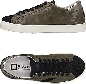 Sneakers for Women On Sale in Outlet, Silver, Leather, 2017, US 7 5 - UK 5 - EU 38 - JP 24 D.A.T.E.