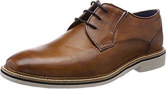 HB3608PR1W - Zapatos con Cordones de Cuero Hombre, Color Marrón, Talla 42 Daniel Hechter