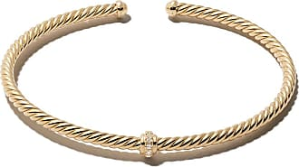 David Yurman 18kt yellow gold Renaissance Centre Station diamond cuff - Metallic