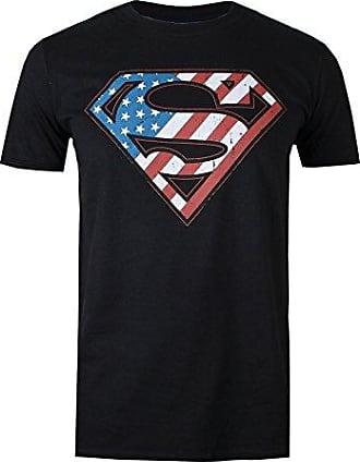 DC Originals Official Superman Shield, Sudadera para Hombre, Negro (Black 001), Large DC Comics