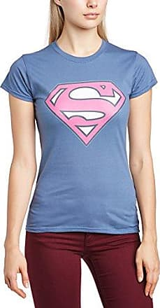 DC SUPERMAN COMICS Womens Colour Logo 6 Crew Neck Short Sleeve T-Shirt DC Comics