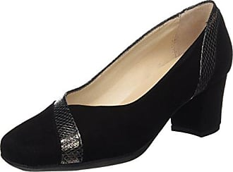 1566, Zapatos de Tacón con Punta Cerrada para Mujer, Negro (Black), 36 EU D'Chicas