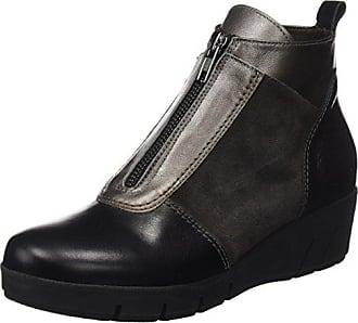 DCHICAS 6883, Zapatos de Cordones Oxford para Mujer, Gris (Aire Negro/Grafito/Grafito), 40 EU