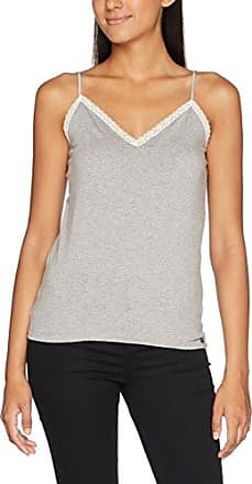 Ddp F1CEL4I - Camiseta, con manga corta, con cuello redondo para mujer, color grau - gris (carbone clair), talla 40