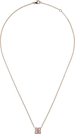 De Beers 18kt rose gold Enchanted Lotus Mother-of-Pearl Medal diamond large necklace - Unavailable