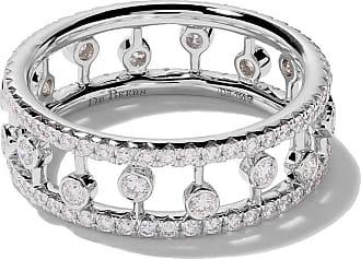 De Beers 18kt white gold Five Line diamond ring - Unavailable