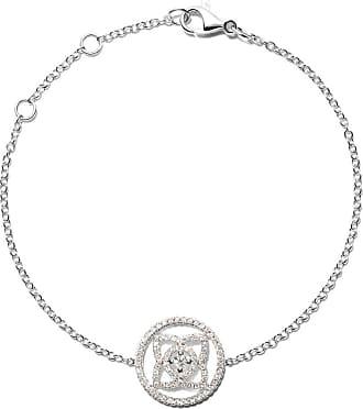 De Beers 18kt white gold Enchanted Lotus Openwork Medal diamond necklace - Unavailable