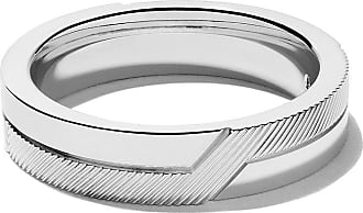 De Beers 18kt white gold Promise half textured band - Unavailable