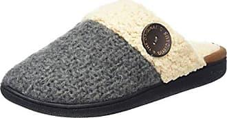 Dearfoams Damen Pile Scuff w/Sweater Knit Heel Pantoffeln, Schwarz (Black 00001), 38/39 EU