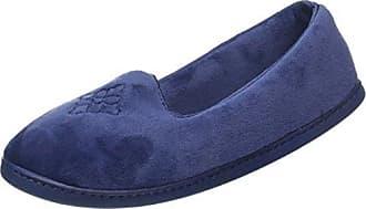 Dearfoams Velour Closed Back w/Embr, Zapatillas de Estar por Casa para Mujer, Multicolor (Leopard 00008), 38/39 EU