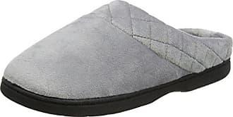 Dearfoams Velour Closed Back w/Embr, Zapatillas de Estar por Casa para Mujer, Gris (Medium Grey 00036), 40/41 EU