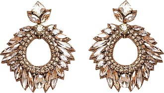 Deepa Gurnani Fountain Hooped Post Earrings
