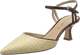 Dominga W/Strass, Sandales Compensées Femme, Beige (Nude), 38 EUDeimille