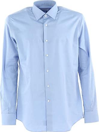Camisa de Hombre Baratos en Rebajas, Celeste, Algodon, 2017, 40 41 42 43 44 45 Del Siena