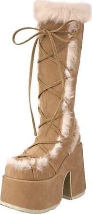 Demonia Camel-311 - Gothic Punk Industrial Plateau Stiefel Schuhe 36-43, Größe:EU-36 / US-6 / UK-3