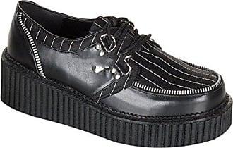 Demonia Creeper-208 - Gothic Punk Industrial Creeper Schuhe 36-42, Größe:EU-36 / US-6 / UK-3