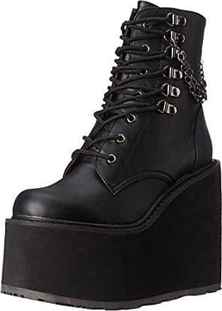 DEFIANT-100 - Zapatos Botín para Hombre, Color Negro (blk Pat), Talla 45 EU (12 UK) Demonia