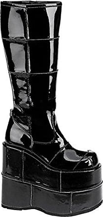 Demonia Stack-301 - Gothic Mega Plateau Stiefel Schuhe 36-46, US-Herren:EU-43 (US-M10)