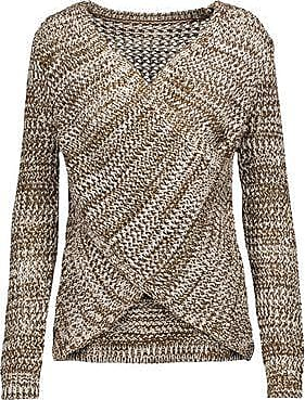 Derek Lam 10 Crosby Woman Striped Cold-shoulder Wool Sweater Gray Size M Derek Lam