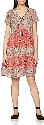 10078 - Robe - Imprimé - Manches longues - Femme - Rouge - FR: 42 (Taille fabricant: L)Derhy