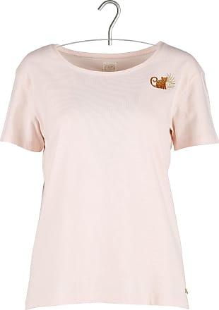T-Shirt aus Baumwolle und Leinen mit Rundhalsausschnitt und Spitzenband des petit hauts