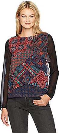 Desigual Blus_capas Birmania, Blouse Femme, (Negro 2000), Small