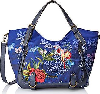 Bols Roma Tricolor Blau Grün 17WAXPFR-5011Damen Handtasche Tasche Henkeltasche Schultertasche Desigual