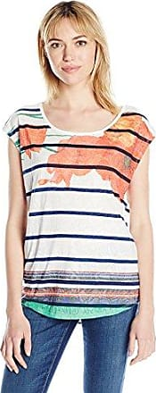 Desigual TS_Mary, Camiseta para Mujer, Blanco (Blanco 1000), Medium