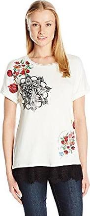 Desigual TS_Maine, Camiseta para Mujer, Beige (Crudo 1001), Large