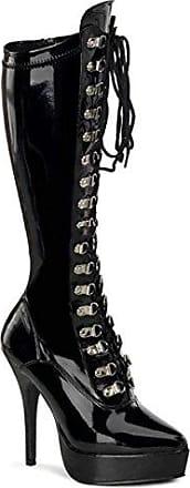 Demonia Slush-249 - sexy Gothic Industrial Plateau Stiefel Schuhe 36-45, Größe:EU-43 / US-12 / UK-9